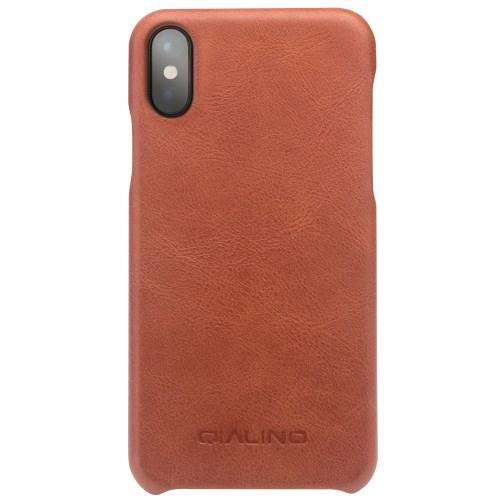 617a82aff98 IPhone X - Qialino helepruun lehma nahk / plastik ümbris - Instapood ...