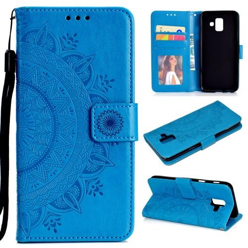13456930e2a Galaxy A6 (2018) - sinine pu nahk / tpu rahakott / koos hoidjaga ümbris