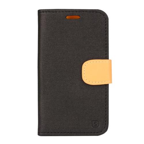 7019b24e9d2 Galaxy Xcover 3 - must pu nahk / tpu kaardihoidjaga / rahakott / koos  hoidjaga ümbris