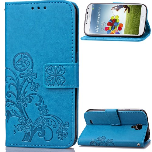 38563213506 Galaxy S4 mini - sinine pu nahk / tpu rahakott / koos hoidjaga ümbris