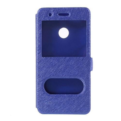 df24202600c P9 lite mini - sinine plastik / pu nahk vaata akent / koos hoidjaga ümbris