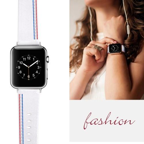 aff0f6ea1f5 Apple Watch Series - valge ehtne nahk nutikella rihm - Instapood ...