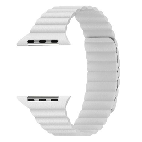 5d9d13a4544 Apple Watch Series - valge split leather nutikella rihm - Instapood ...